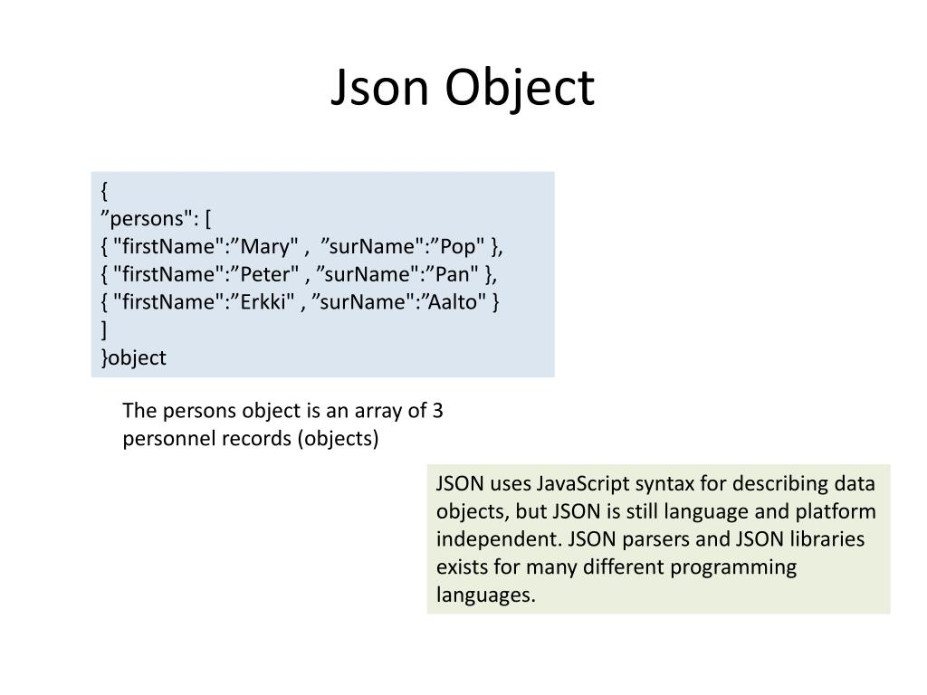 PPT - JSON – AJAX - REST PowerPoint Presentation - ID:2076247