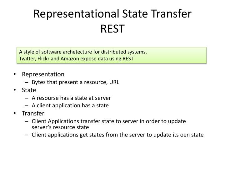 representational state transfer and yahoo What's rest and what the differences are between them with recommendations of when to use rest versus soap (representational state transfer yahoo.