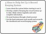 4 ideas to help set up a record keeping system