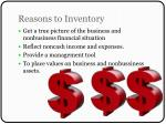 reasons to inventory
