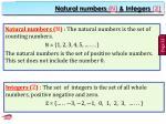 natural numbers n