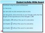 student activity white board