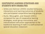 cooperative learning strategies and students with disabilities1