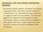 techniques for facilitating cooperative learning2