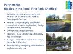 partnerships ripples in the pond firth park sheffield