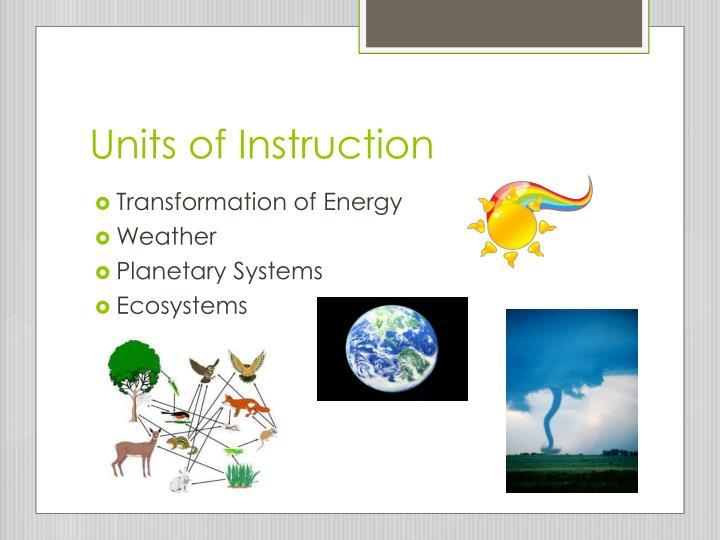 Units of Instruction