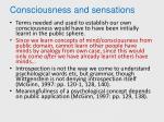 consciousness and sensations