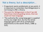 not a theory but a description