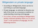 wittgenstein on private language