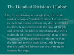 the detailed division of labor11