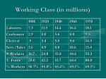 working class in millions