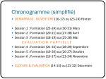chronogramme simplifi
