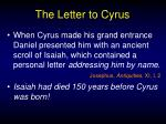 the letter to cyrus