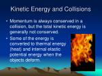 kinetic energy and collisions
