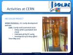 activities at cern