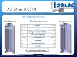 activities at cern1
