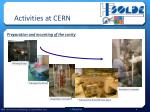 activities at cern2