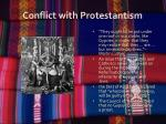 conflict with protestantism