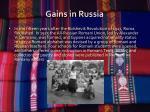 gains in russia