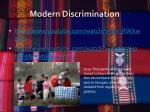 modern discrimination