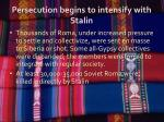 persecution begins to intensify with stalin