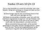 exodus 19 vers 10 t m 13