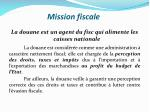 mission fiscale