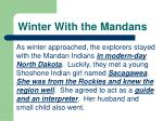 winter with the mandans