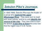 zebulon pike s journeys