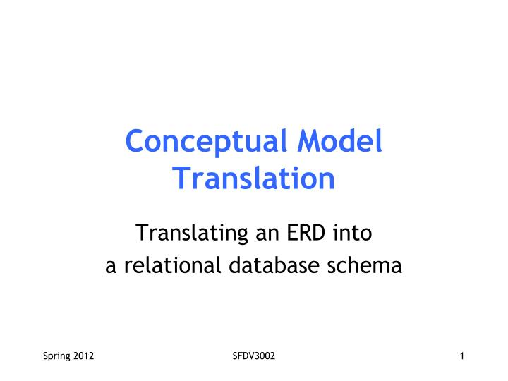 conceptual model translation n.