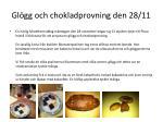 gl gg och chokladprovning den 28 11