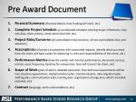 pre award document
