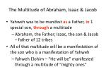 the multitude of abraham isaac jacob
