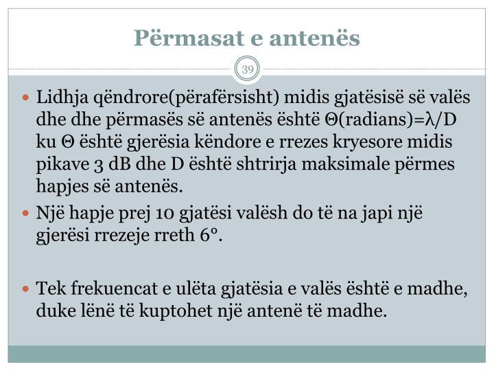Përmasat e antenës