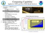 computing capability applied to nws and now nos model services