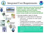 integrated user requirements