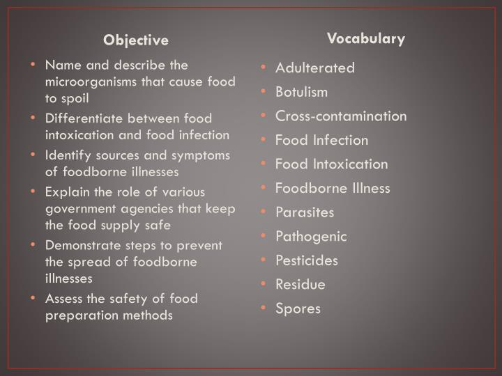 safe food preparation essay Goal reduce foodborne illnesses in the united states by improving food safety-related behaviors and practices overview foodborne illnesses are a burden on public health and contribute significantly to the cost of health care.