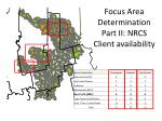 focus area determination part ii nrcs client availability