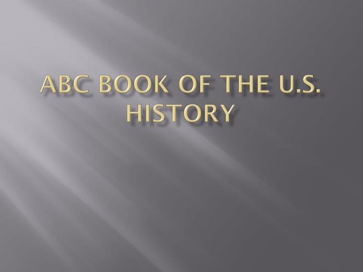 abc book of the u s history n.