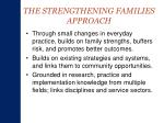 the strengthening families approach