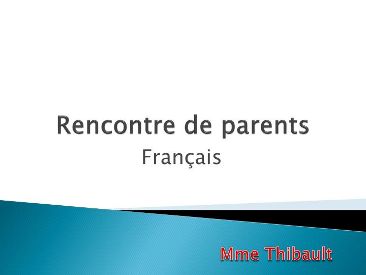 rencontre de parents n.