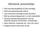afsluitend preventietips