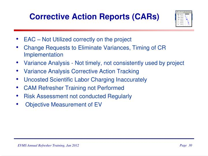 Corrective Action Reports (CARs)