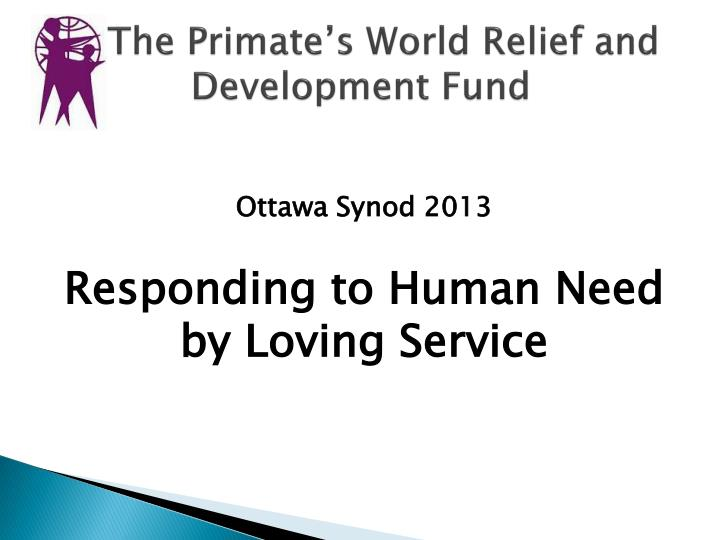 the primate s world relief and development fund n.