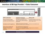 interface of bd app provider data consumer