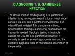 diagnosing t b gambiense infection