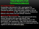 treatments for trypanosomiasis
