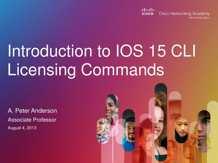 introduction to ios 15 cli licensing commands n.
