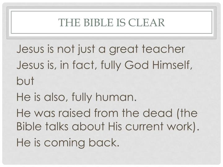 The Bible is clear