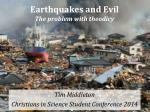 earthquakes and evil the problem with theodicy